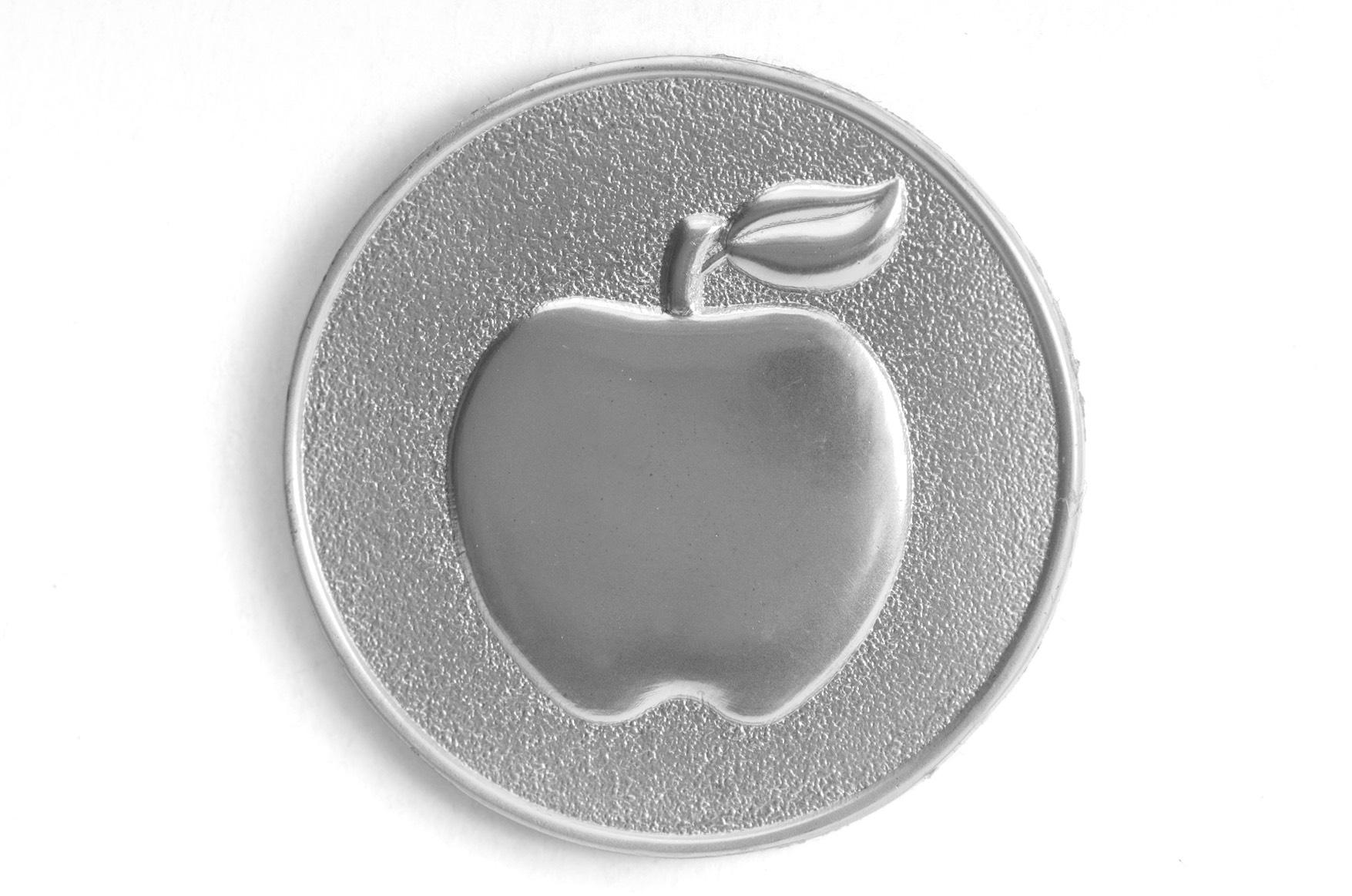 Mattpläterat silvermärke